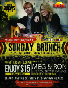 Meg and Ron brunch flyer